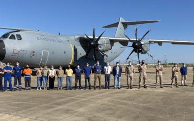 Concluida la revisión del primer avión del Ejército del Aire en la Maestranza Aérea