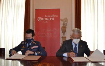 La Fundación Cámara de Comercio de Sevilla y el Ejército del Aire suscriben un acuerdo de colaboración para la realización de actos conmemorativos del Centenario de Tablada
