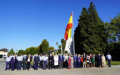 Tablada rinde homenaje al personal sanitario del Hospital Virgen del Rocío con un Izado de Bandera